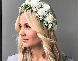 flower headpiece flower crown wedding floral headpiece rustic bridal flower