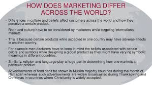 marketing around the globe and across different cultures
