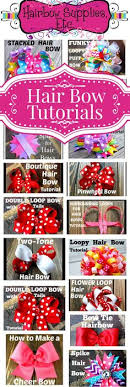 how to make girl bows hair bow step by step many with