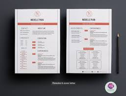 Resume Templates Modern Modern 2 Page Cv Cover Letter Resume Templates Creative Market