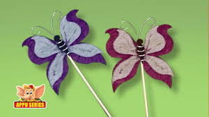 arts u0026 crafts how to make a butterfly bookmark youtube