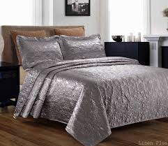 Grey Quilted Bedspread Quilted Bedspreads King Size
