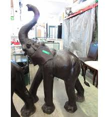 Elephant Statue New 5 Foot Tall Leather Covered Elephant Statue