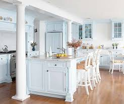 blue cabinets in kitchen blue kitchen cabinets better homes gardens