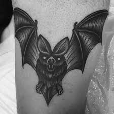 50 traditional bat tattoo designs for men old ideas