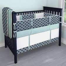 nursery beddings teal chevron crib bumper with solid teal crib