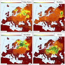 Genetic Map Of Europe by Genetic Affinities Of Volga Tatars Bashkirs Karelians And Erzya