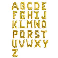letter balloons 16in festive foil alphabet balloons matte gold efavormart