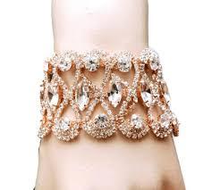 rose gold bracelet art deco bridal bracelet wedding bracelet