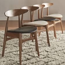 inspire q modern norwegian danish tapered dining chairs set of 2