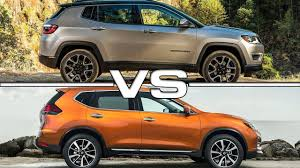 jeep nissan 2017 jeep compass vs 2017 nissan rogue youtube