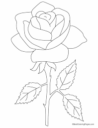 clever design coloring pages draw a rose for kids 2 4 coloring