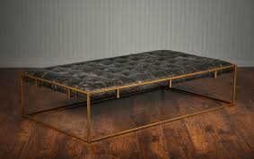Ottoman Leather Coffee Table Tufted Leather Coffee Table Ottoman Mecox Gardens