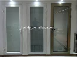 champagne color french casement window aluminum double glazed