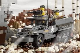 lego army vehicles m3a1 half track armored personnel carrier brickmania toys