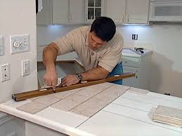 How To Install A Glass Tile Backsplash In The Kitchen Install Tile Over Laminate Countertop And Backsplash How Tos Diy