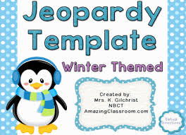 jeopardy template winter themed promethean activinspire activboard