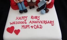 ruby wedding cakes characters ruby wedding anniversary cake topup wedding ideas