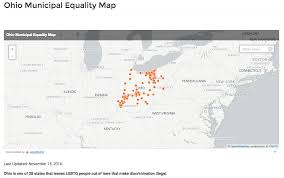 Marriage Equality Map World by Equality Ohio Launches Municipal Equality Map Equality Federation