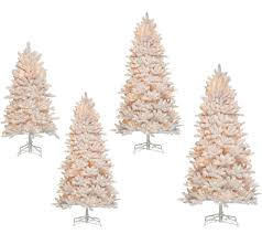 bethlehem lights christmas trees bethlehem lights flocked christmas tree with instant power qvc com
