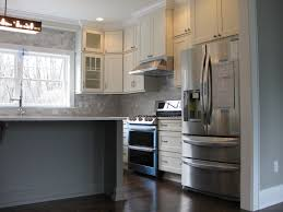 white shaker cabinets kitchen remodeling photos white and gray shaker cabinets in colonial home new construction