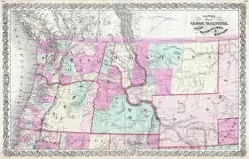 Maps Montana by File 1866 Colton Map Of Oregon Washington Idaho And Montana W