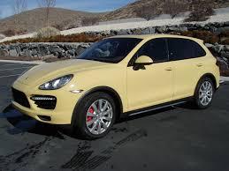 Porsche Macan Yellow - 2011 cayenne turbo sand yellow rennlist porsche discussion