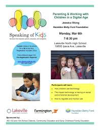 speaking of kids parenting seminar set for monday march 6 isd194