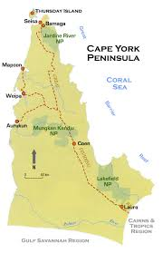 road map of york cape york peninsula road map qld
