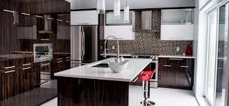 fabricants de cuisines cuisine moderne au fini lustré à sherbrooke
