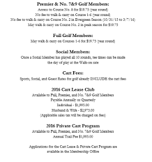 carry on fee pinehurst membership rates and dues