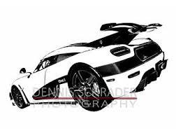 sportscar drawing etsy