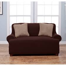 Loveseat Slipcover T Cushion Sofa Slipcover One Piece Best Home Furniture Decoration