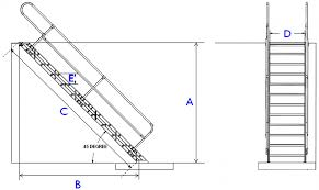 Stair Options by Aluminum Stairways Alumidock