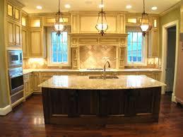 Gorgeous Kitchen Designs by Remarkable Kitchen Decor Ideas Offer Plentiful Wooden Cabinets