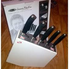 martin white knife block 5 piece set ij65