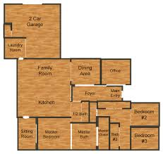 2 Car Garage Dimensions by Live Oak Homes Floor Plans