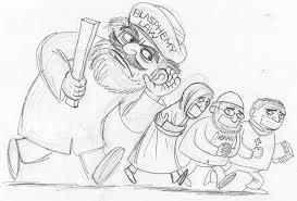 cartoon movement the blasphemy law rough sketch