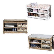 storage unit with wicker baskets hallway soft cushioned seat beach shoe rack storage unit wicker
