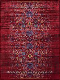 Burgundy Rug Vintage Contemporary Inspired Overdyed Distressed Rugs Burgundy 8