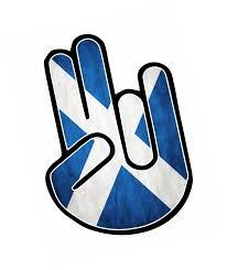Scottish County Flags The Shocker Hand With Scotland Scottish Saltire Flag Motif