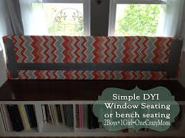 Covering A Seat Cushion Create A Window Seat Diy And Make It Look Like A Million Bucks