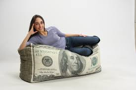 ball out in comfort with this 100 dollar bill bean bag sneakhype