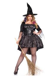 witch from room on the broom costume leg avenue plus size 2 piece black magic mistress witch costume