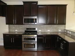 Dark Espresso Kitchen Cabinets Espresso Kitchen Cabinets With White Granite Top Counter Google