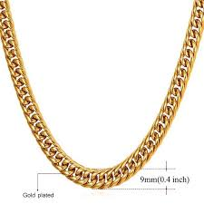 big gold necklace men images U7 miami cuban chains for men hip hop jewelry gold color thick jpg