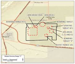 Winslow Arizona Map by Mojave Gunnery Range