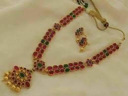 ruby necklace set images Designer ruby necklace set emporia jewels jpg