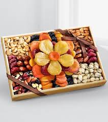 fruit and nut baskets flowering gourmet kosher dried fruit nut tray large gf69