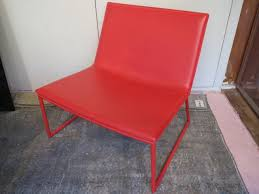Cb2 Leather Chair Cb2 Triumph Red Lounge Chair Shophousingworks